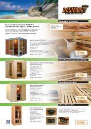 GLOBUS Baumarkt Sauna-Einleger