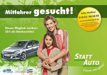 Mitfahrer gesucht! Neues Mitglied werben - StattAuto Lübeck
