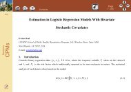 Estimation in Logistic Regression Models With Bivariate Stochastic ...