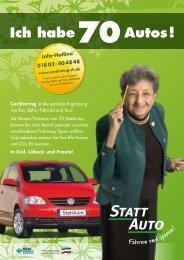 Info-Hotline * 018 02-404848 www.carsharing-sh ... - StattAuto Lübeck