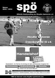 Rheydter Spielverein - Cronenberger SC 02 e.V. ... - Staubesand