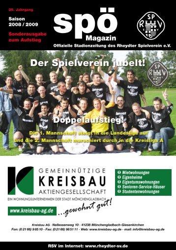 Saison 2008 / 2009 Sonderausgabe zum Aufstieg - Staubesand