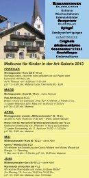 Kunst und Kulturfahrplan/ Kindermalkurse - ART Galerie