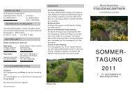 SOMMER- TAGUNG 2011 - Bund deutscher Staudengärtner