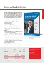 Staufenbiel Das MBA-Studium - Staufenbiel.de