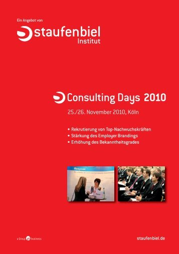 Consulting Days 2010 - Staufenbiel.de