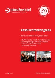 Absolventenkongress - Staufenbiel