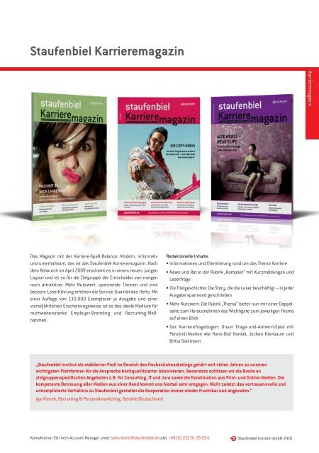 Staufenbiel Karrieremagazin - Staufenbiel.de