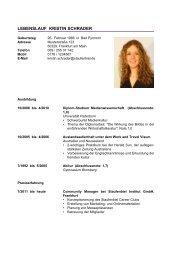 Beispiel-Lebenslauf des Staufenbiel Lebenslauf ... - Staufenbiel.de