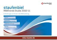 Download: Staufenbiel MBATrends-Studie 2010/11 - MBA-Master.de