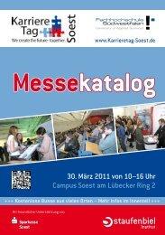 30. März 2011 von 10–16 Uhr Campus Soest am ... - Staufenbiel.de