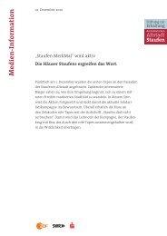 Pressemitteilung - Stiftung zur Erhaltung der historischen Altstadt ...