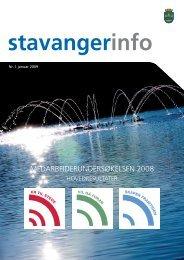 StavangerInfo nr. 1 2009 - Stavanger kommune