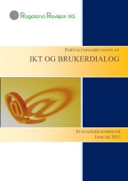 Forvaltningsrevisjon av IKT og brukerdialog - Stavanger kommune