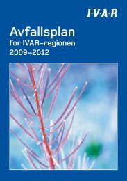 Avfallsplan for IVAR 2009 - 2012 - Stavanger kommune