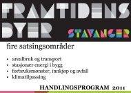 fire satsingsområder - Stavanger kommune