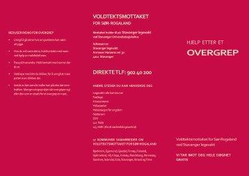 Brosjyre - Hjelp etter overgrep - Stavanger kommune
