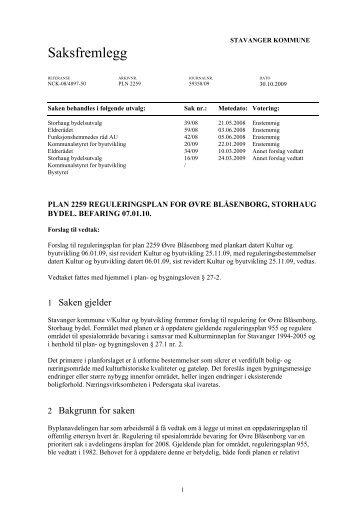Politisk sak - Stavanger kommune