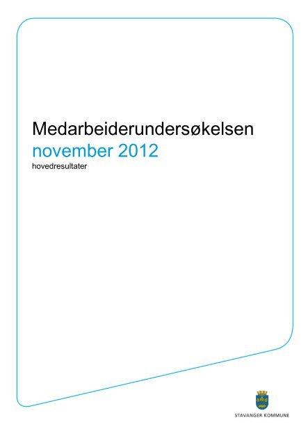 Resultatene finner du her (pdf - 382 mb) - Stavanger kommune
