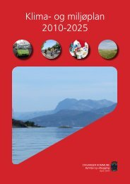 Klima- og miljøplan 2010-2025 - Stavanger kommune