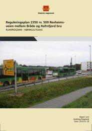 Forslag til planprogram for reguleringsplan - Stavanger kommune