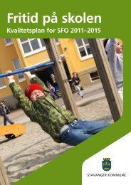 Fritid på skolen - Stavanger kommune