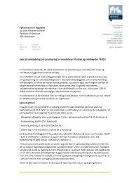 Svar på anmodning om presisering av minstekrav til utsyn og ...