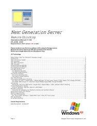 Next Generation Server - Unlock Code