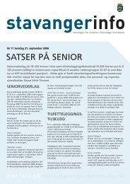 StavangerInfo nr. 11 2006 - Stavanger kommune