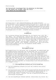 Satzung über Beiträge für Ausbau von Straßen und ... - Stavenhagen