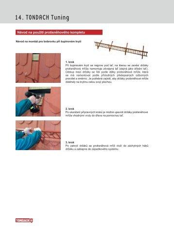 Návod na použití protisněhového kompletu - Tondach