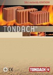 Zdící materiály a postupy zdění Tondach - Katalog - STAVOMARKET