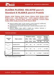 Betonová dlažba plošná reliéfní, povrch Standard ... - STAVOMARKET