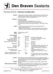 Technický list - STAVOMARKET