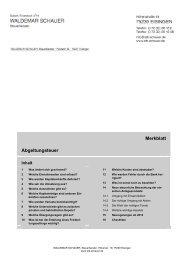 Merkblatt Abgeltungsteuer - Steuerberater Waldemar Schauer