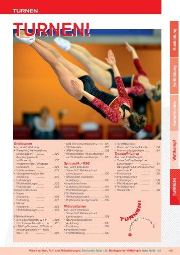 """Zum Jahresprogramm """"Turnen!"""" 2013"""