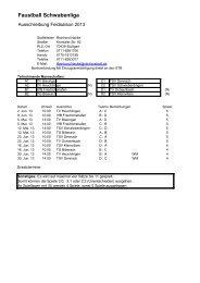 Spielplan Schwabenliga Männer Feld 2013
