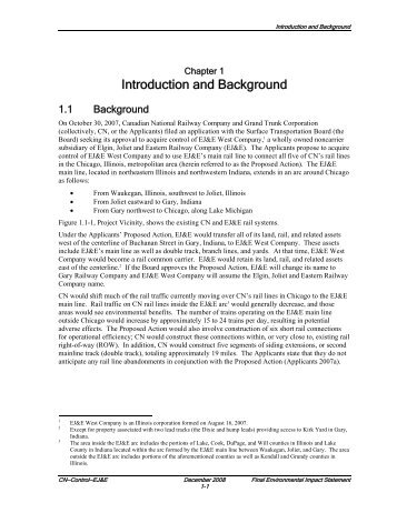 Introduction and Background - Surface Transportation Board - U.S. ...