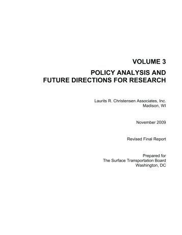 Volume 3 - Surface Transportation Board