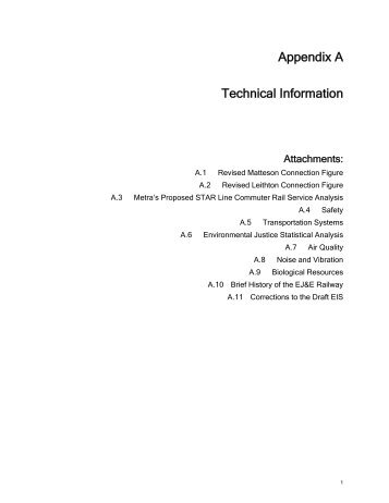 Appendix A Technical Information - Surface Transportation Board