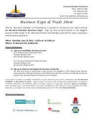 Business Expo & Trade Show - St. Bernard Parish Chamber of ...