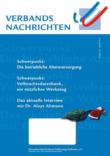 Ausgabe 4/2013 - Steuerberaterverband Schleswig-Holstein