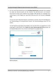 Beschreibung des Registrierungsprozesses