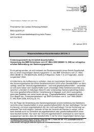 KöSt-Kurzinfo des FM SH zum Forderungsverzicht durch GmbH ...