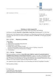 Veranstaltungshinweis des HLBS: Jahrestagung am 20.05.2013