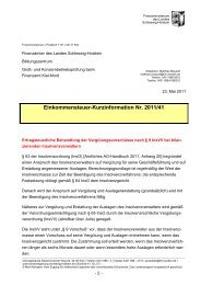Erlass des FM SH Vergütungsvorschüsse nach § 9 InsVV bei ...