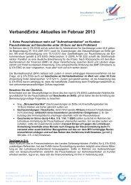 Verband Extra 02/2013 - Steuerberaterverband Schleswig-Holstein