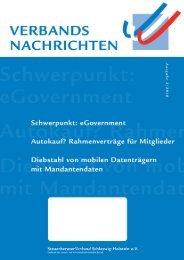 Ausgabe 3/2010 - Steuerberaterverband Schleswig-Holstein