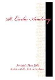 Strategic Plan 2006 - St. Cecilia Academy