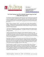 St. Cecilia Academy hosts The Nashville Catholic College Fair and ...
